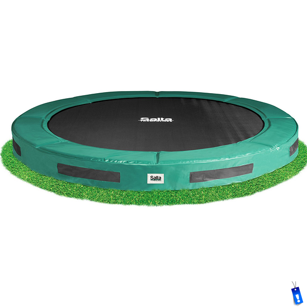 Salta Excellent Ground Ingraaf Trampoline rond